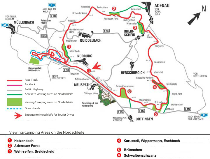 Tickets For ADAC Nurburgring Hours Race - Germany map nurburgring