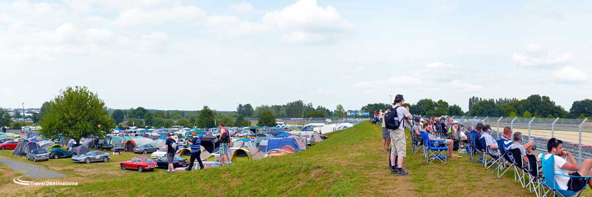 Travel Destinations at Porsche Curves trackside camping, Le Mans