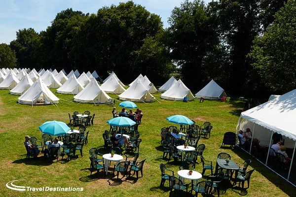 TR Register Glamping at the Event Tents