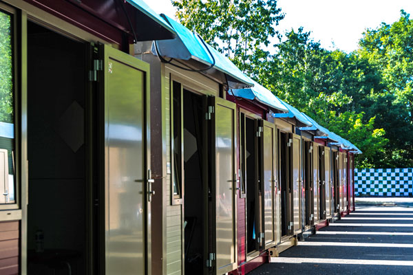 Flexotel Village cabins for the Le Mans Classic