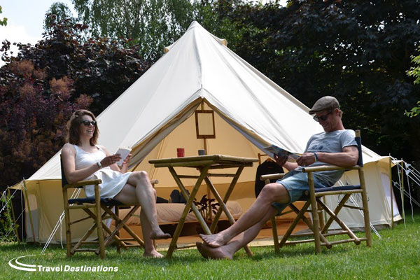Glamping at Chateau de Chanteloup
