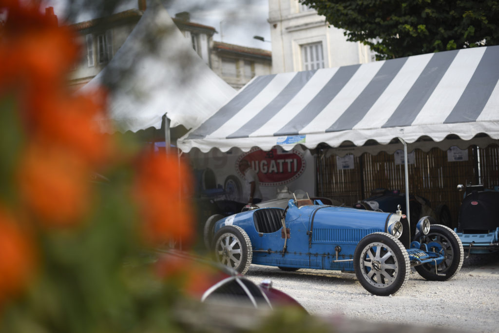 Bugatti in the Circuit des Remparts paddock