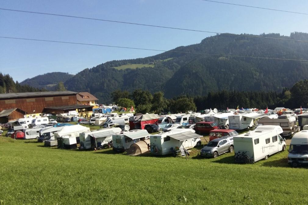 Pink Camping am Birkmoarhof